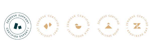 Zendesk certification logos